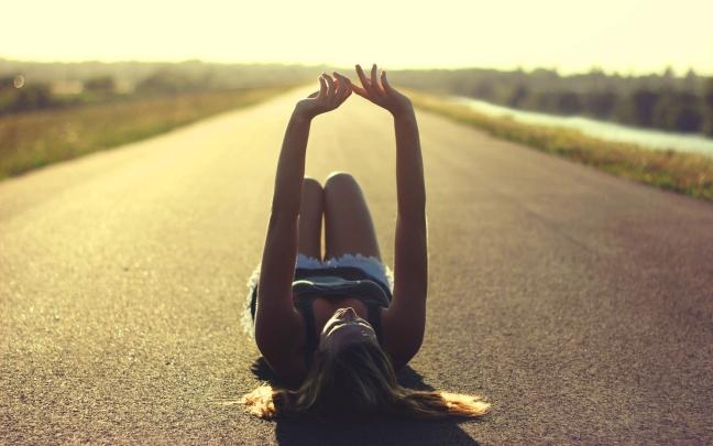 6921150-girl-road-sunset